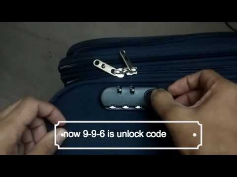 How to reset suitcase lock,luggage,Trolley, Safari,American Tourister, VIP, Sky Bags, Samsonite