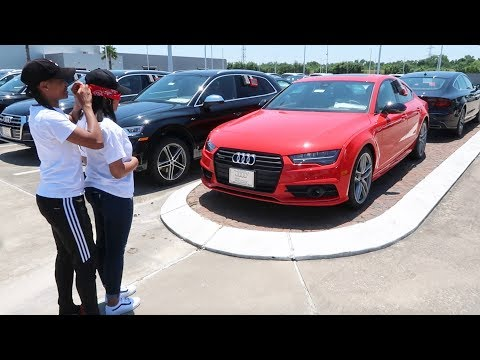 SURPRISING GIRLFRIEND WITH HER DREAM CAR PRANK!!!