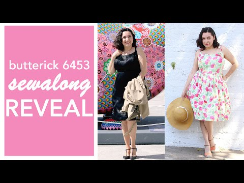 Gertie Sew Along, Butterick 6453 Sewing Reveal!   Vintage on Tap