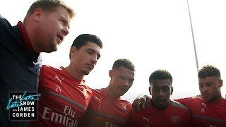 James Corden Takes Over as Coach of Arsenal F.C.