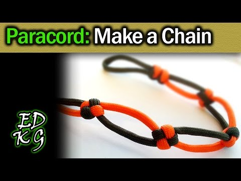 Simple Paracord: Make a Chain (with Square knot, Snake knot, etc)