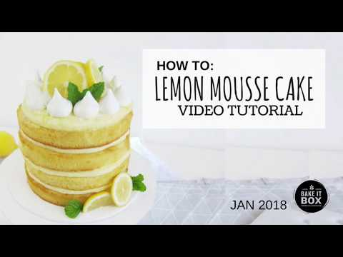 Lemon Meringue Mousse Cake Tutorial   Jan 2018
