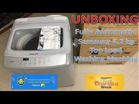 Samsung 6.2 kg Fully Automatic Top Load Washing Machine   Unboxing