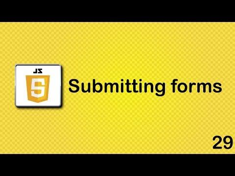JavaScript beginner tutorial 29 - submitting forms