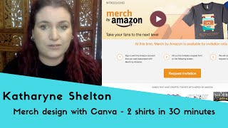 Merch By Amazon T Shirt Design With Canva 2 Shirts In 30 Minutes