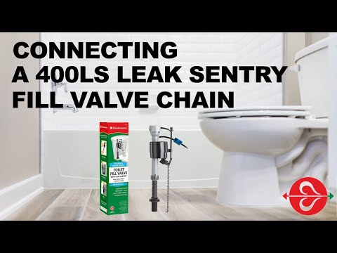 Connecting the Fluidmaster Leak Sentry® fill valve chain