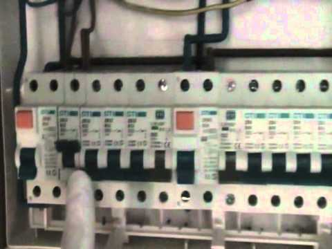 Changing old consumer unit in to new