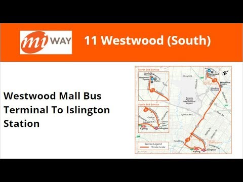 MiWay 2011 New Flyer XD40 #1101 On 11 Westwood (Westwood Mall Term To Islington Stn)