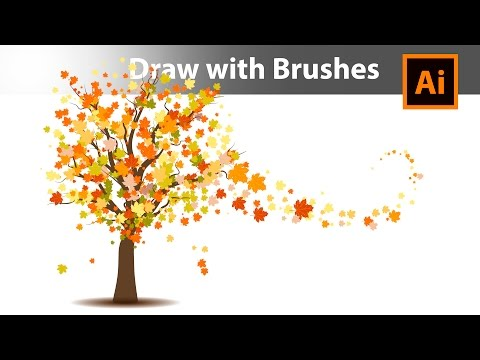 How to draw an Autumn Tree with brushes in Adobe Illustrator