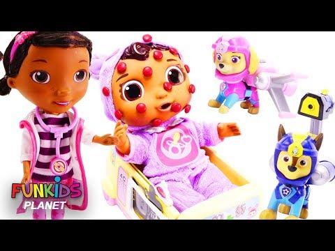 Disney Jr. Baby Cece Gets Chicken Pox Doc McStuffins Doctor's Visit