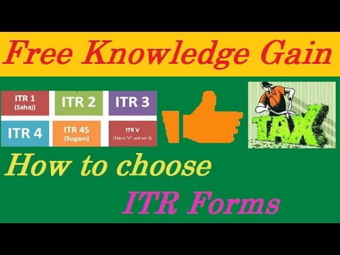 How To Choose ITR Forms – How To Select ITR Form In Hindi