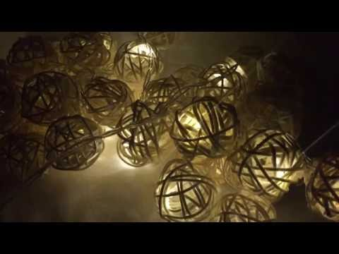 Beautiful set of 40 LEDs ball lights  that create a magically glow by Dailyart