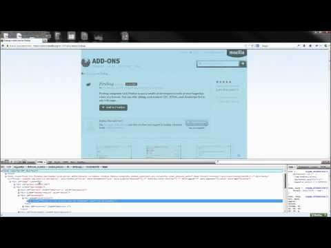 Web Design Tutorial: Installing and Using the Firebug Addon for Firefox and Chrome -HD-