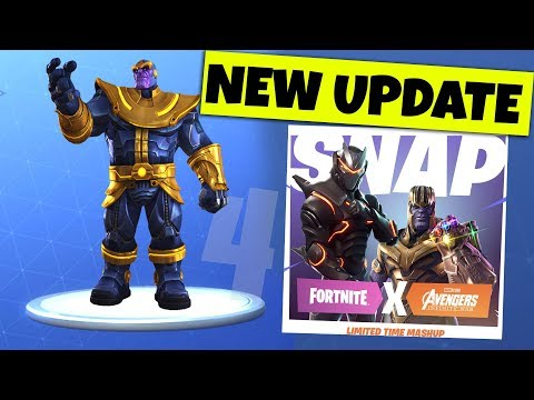Fortnite THANOS SKIN Update RELEASE TOMORROW (Fortnite Mobile, Android, iOS, PC, Xbox, PS4)