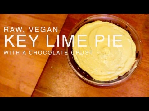 Raw Key Lime Pie With A Double Chocolate Crust
