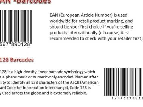 Types of Barcodes SA   barcodessouthafrica