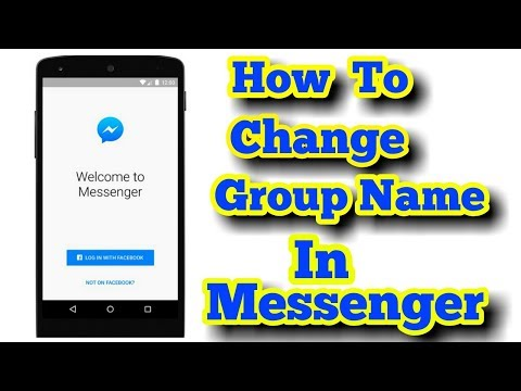 How To Change The Group Name In Messenger