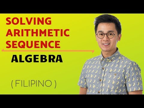 ALGEBRA Evaluating Arithmetic Sequence in Filipino