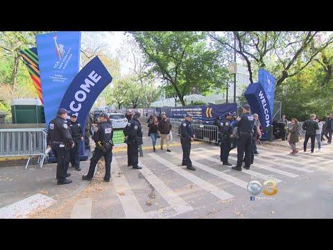 Heavy Police Presence For New York City Marathon