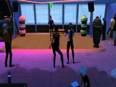 The Sims 3 Showtime - Sim Dancing To Sisters Singing Gig