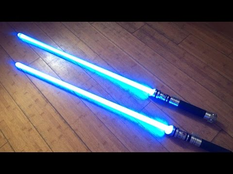 The Force Unleashed II TFUII Promo Custom Star Wars FX Lightsaber Pair NBv2.0 Quick Connect LED's