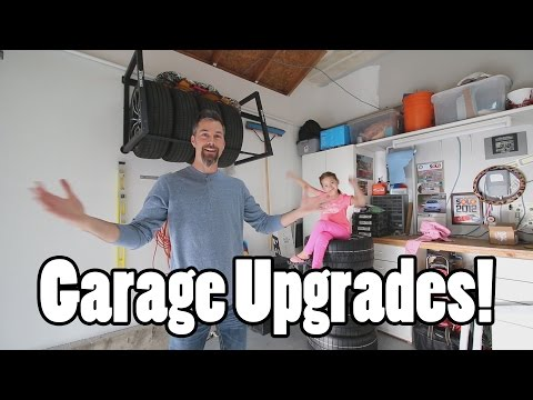 Tire rack garage upgrade