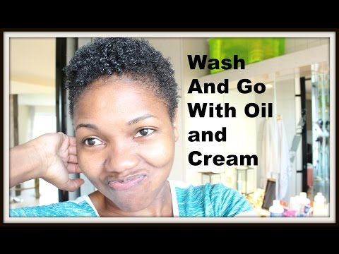 Wash and Go On Damp Hair with Cantu Shea Butter Coconut Curling Cream