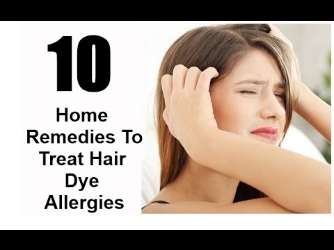 Hair Dye Allergies Treatment Home Remedies