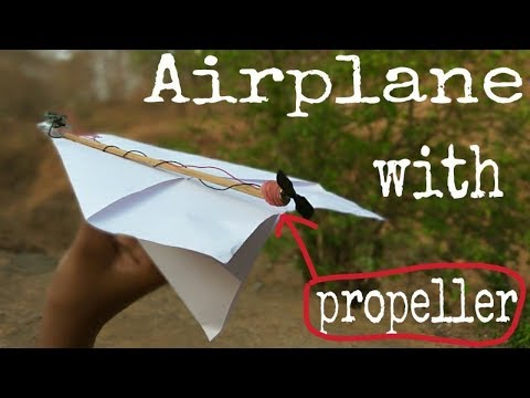 How to make a Paper Airplane with motor -  Paper Planes in the World - Paper Airplanes that FLY FAR