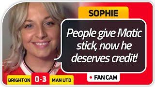 SOPHIE! GREENWOOD MOTM! Brighton 0-3 Manchester United FanCam