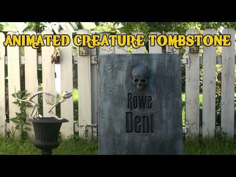 Halloween Animated Creature Tombstone