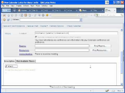LotusNotes Creating A Meeting