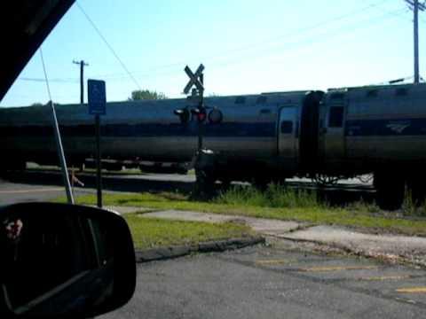 Amtrak shuttle in North Haven, CT  Devine Street commuter lot