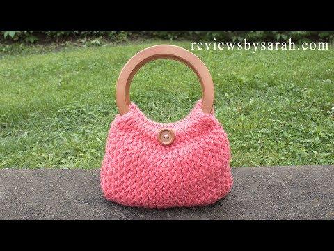 How to Loom Knit Simple Handbag - Knitted Handbag - Beginner Loom Knitting