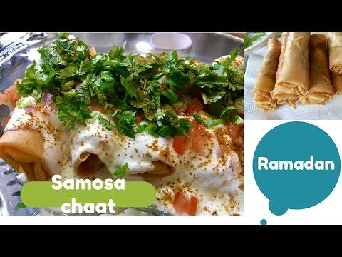 Samosa Chaat Spring Roll Samosa Chaat *Ramadan Recipes*