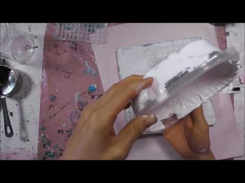 Homemade texture paste/gesso tutorial