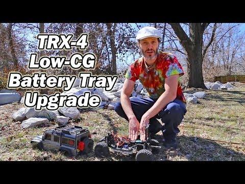 Traxxas TRX-4 upgrade-  Bowhouse battery tray