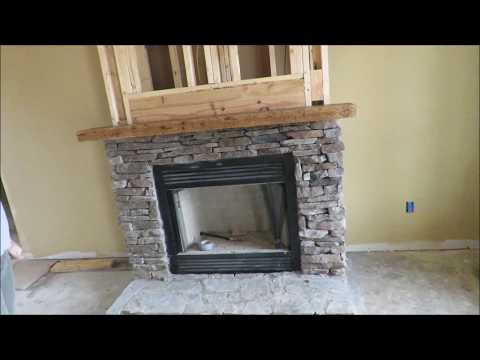 How to make and install a rustic mantle. Solid hickory, 3