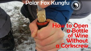 Polar Fox Kung Fu How To Open A Bottle Of Wine Without A Corkscrew