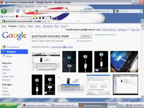 how to get ipod touch out of recovery mode