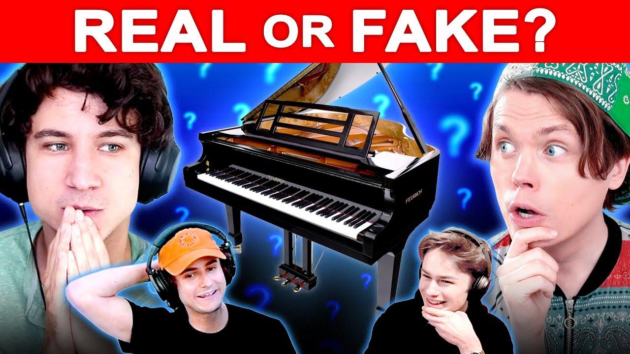Real vs Fake Piano - Can Pianists Tell? (w/ Daniel Thrasher, Marcus Veltri, Joe Jenkins)