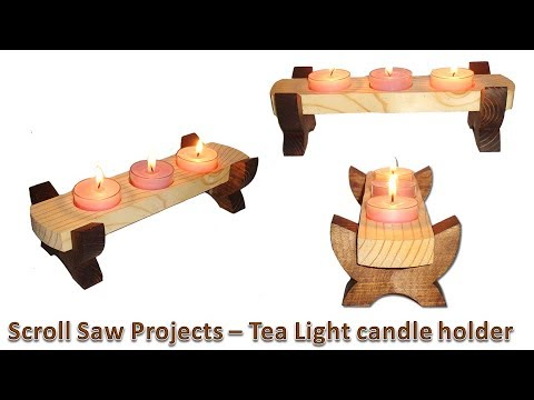 Scroll Saw Projects - Tea Light Candle Holder