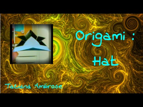 DIY How To Make An Origami Hat Craft Tutorial ♚