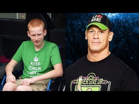 John Cena makes a video for a young boy with an undiagnosed disorder