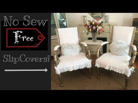 Farmhouse No Sew Chair SlipCovers