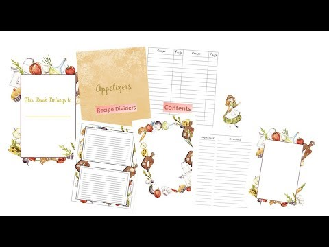 Moms Recipe Book - Printable PDF