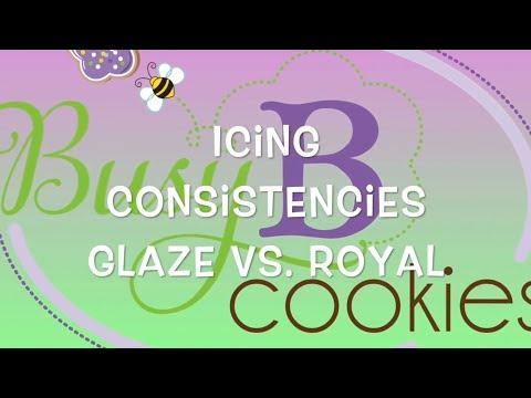 Adventures with Glaze Icing: Glaze vs. Royal Icing Consistencies