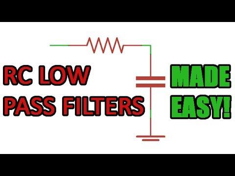 Passive RC low pass filter tutorial!