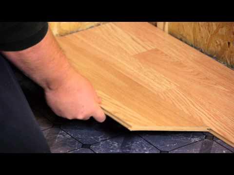 How to Install Engineered Click-Lock Flooring : Flooring Tips