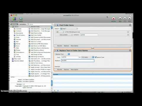MAC Automator Find & Replace